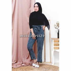 Harga celana boyfriend wanita kekinian jeans murah  store asix   | HARGALOKA.COM