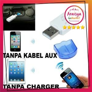 Harga bt 460 dongle usb bluetooth music receiver usb audio mobil music   HARGALOKA.COM