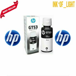 Harga tinta hp gt 53 black original ink bottle   | HARGALOKA.COM