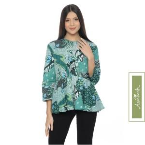 Harga agrapana blouse baju batik atasan wanita couple lengan panjang bayu     HARGALOKA.COM