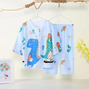 Harga setelan piyama baju tidur anak 7 8 tahun katun import   dino   HARGALOKA.COM