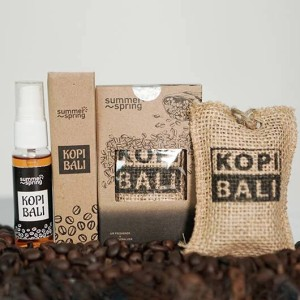 Harga paket pengharum mobil spray dan goni aroma kopi   HARGALOKA.COM