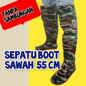 Harga sepatu boot boots sawah petani kebun rawa mancing anti keong karet   doreng hitam | HARGALOKA.COM