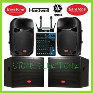 Harga paket sound proffesional mixer yamaha subwoofer 18 in speaker 15 | HARGALOKA.COM