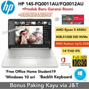 Harga laptop hp 14s fq0011au ryzen 5 4500u 8gb ssd 512gb 14 34 windows | HARGALOKA.COM