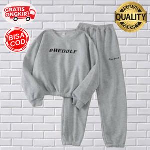 Harga hoodie setelan wanita sweater kaos blouse celana panjang   | HARGALOKA.COM