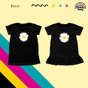 Harga blossomcandy   dress basic amp ruffle   daisy   baju bayi amp anak   black   basic | HARGALOKA.COM