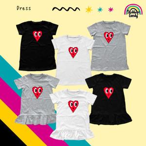 Harga blossomcandy   dress basic amp ruffle   heart   baju bayi amp anak   black   basic | HARGALOKA.COM