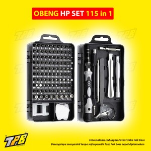 Harga tools set 110 in 1 obeng screw reparasi handphone laptop elektronik   115 in | HARGALOKA.COM