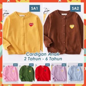 Harga cardigan anak laki laki perempuan outerwear keren motif lucu hati love   sa4   ijo tua   HARGALOKA.COM