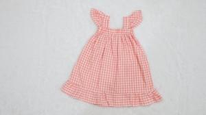 Harga baju anak perempuan dress korean style kotak warna pastel   s merah | HARGALOKA.COM