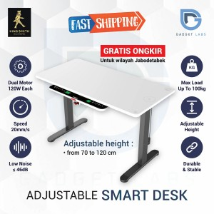 Harga kingsmith adjustable desk smart table   meja multifunctional | HARGALOKA.COM