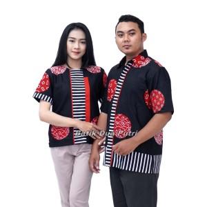 Harga batik couple atasan blouse kemeja pria model terndy by batik dua putri   wanita | HARGALOKA.COM