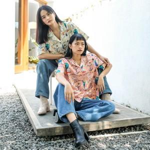Harga gerald top   luina moku   cotton tree   blouse wanita top wanita   creme big   HARGALOKA.COM