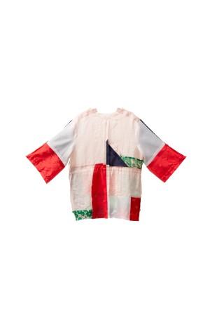 Harga whim   blouse patchwork   blus perca loose casual top new | HARGALOKA.COM