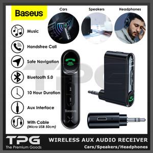 Harga baseus car wireless aux audio receiver bluetooth speaker headphone   HARGALOKA.COM