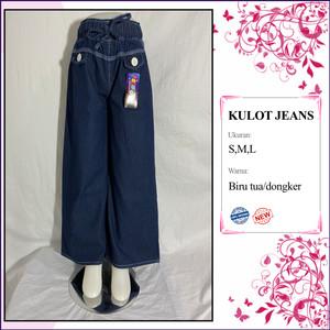 Harga grosir celana kulot anak perempuan bahan jeans lepis polos termurah   | HARGALOKA.COM