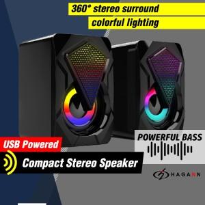 Harga speaker usb mini aktif portable rgb untuk komputer pc laptop | HARGALOKA.COM