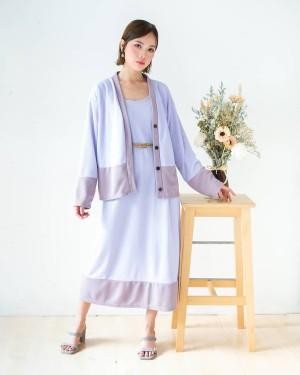 Harga baju dress wanita kekinian mouza set dress pakaian wanita | HARGALOKA.COM
