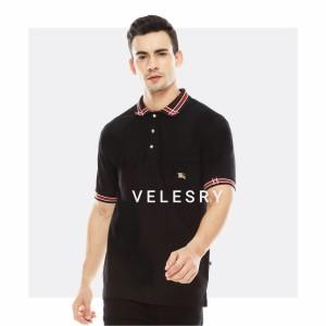 Harga velesry baju polo shirt pria kaos kerah cowok terbaru   hitam | HARGALOKA.COM