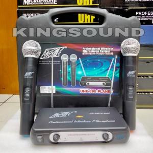 Harga microphone wireless uhf 898 pewie mic   HARGALOKA.COM