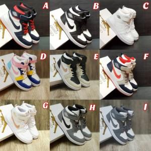 Harga sepatu sneaker anak laki laki nike air jordan 1 high grade original   semua size 20 s d | HARGALOKA.COM