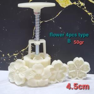 Harga set 4pcs cetakan nastar press sakura mooncake mould kue bulan     HARGALOKA.COM