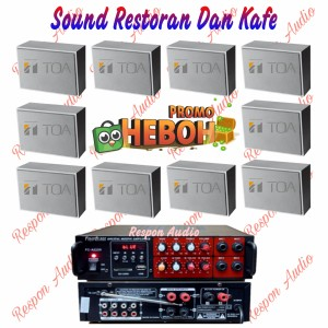 Harga paket sound system toa cafe kafe restoran speaker indoor   HARGALOKA.COM
