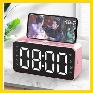 Harga speaker bluetooth jam alarm q5 amp phone stand holder 3 in 1 | HARGALOKA.COM