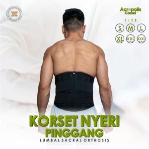 Harga korset sakit pinggang hitam korset kesehatan korset nyeri pinggang   | HARGALOKA.COM