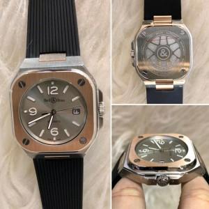 Harga jam tangan pria br silver gold 40 mm matic japan clone | HARGALOKA.COM