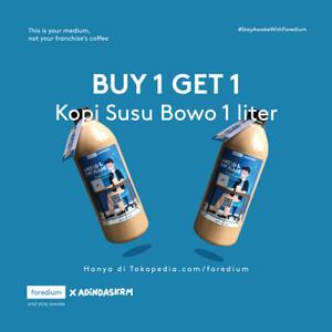 Harga buy 1 get 1 es kopi susu bowo 1 liter   rasa permen   HARGALOKA.COM