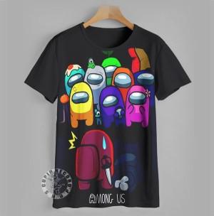 Harga baju anak kaos anime game 3d among us things anak umur 9 12 tahun   9 10 | HARGALOKA.COM