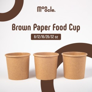 Harga kemasan gelas ice cream brown craft paper cup lid tutup kemasan   tutup 12 | HARGALOKA.COM