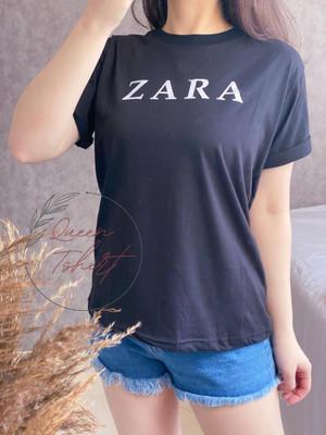 Harga baju kaos wanita lengan pendek ukuran l atasan cewek import zarra   hitam | HARGALOKA.COM