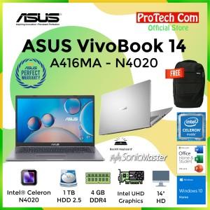 Harga asus vivobook a416ma dualcore n4020 4gb 1tb hdd intel hd 14 34 ohs   HARGALOKA.COM