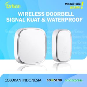 Harga bel rumah wireless door bell pintu doorbell waterproof   1 | HARGALOKA.COM