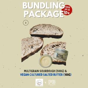 Harga bundling vegan salted butter amp multigrain sourdough free ongkir     HARGALOKA.COM