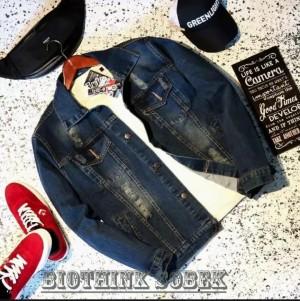 Harga jaket jeans pria wanita realpict terbaru termurah bio tink scrub sobek   biotink | HARGALOKA.COM