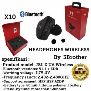 Harga headset bluetooth wireless jbl under armour x10 in earbuds bass | HARGALOKA.COM