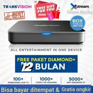 Harga free live tv 12 bulan   transvision | HARGALOKA.COM