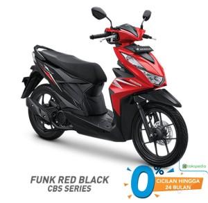 Harga sepeda motor honda beat cbs   red black jkt | HARGALOKA.COM