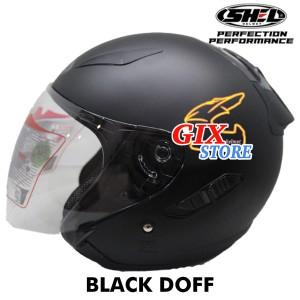 Info Helm Gm Fighter Solid Hitam Doff Half Face Katalog.or.id