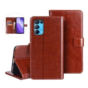 Harga flip case oppo reno 5 5g flip cover wallet leather case   | HARGALOKA.COM