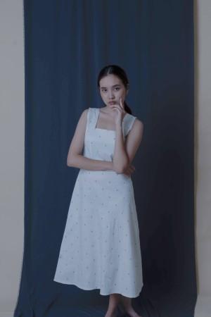 Harga dress motif anchor   putih | HARGALOKA.COM