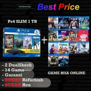 Harga ps4 slim 1tb garansi panjang free 14 game sony playstation 4 slim   tanpa   HARGALOKA.COM