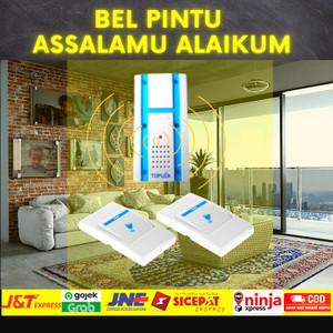 Harga bel rumah pintu assalamualaikum wireless 2 buah pcs remot remote | HARGALOKA.COM