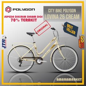 Harga sepeda city bike polygon lovina 26 cream   cream all | HARGALOKA.COM