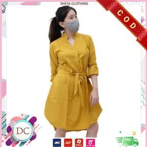 Harga baju tunik wanita maxi dress wanita kekinian 8 varian lomila   | HARGALOKA.COM