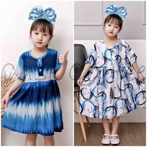 Harga piyama anak baju tidur panjang perempuan cewek daster daster 1 7 tahun   contoh motif s 1 3 tahun | HARGALOKA.COM